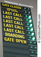 Airport Related - Departure Board