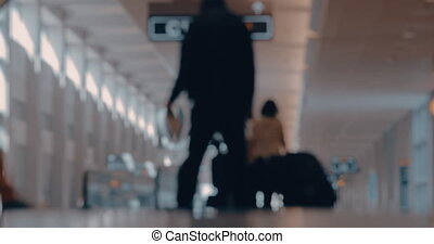 Airport routine day