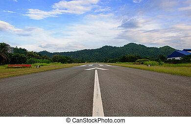 Airport Runway Beautiful Blue Sky