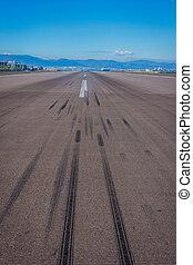 Airport runway, Gibraltar