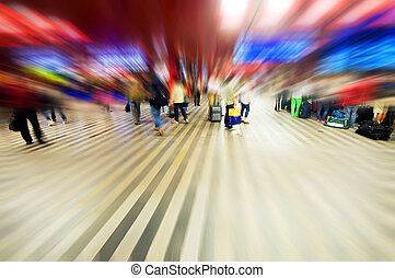 Airport rush abstract