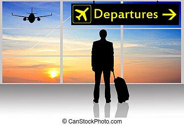 airport scene - Airport scene illustration