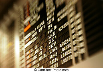 Airport scenes background series. Shot with a special effect lens. Intentional selective focus & blur.