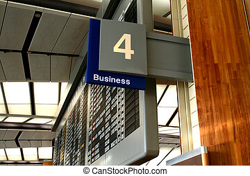 Airport scenes background series. Business Section check-in.