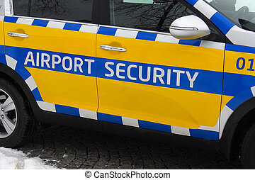 Airport security car
