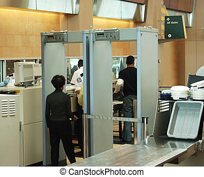 security check - airport security check with passenger...