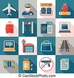 Airport Service Flat Icons