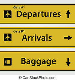 Airport Signs Illustration