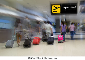 Airport - Airline passengers in the airport