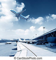 Airport - Shanghai Pudong International Airport, a busy...