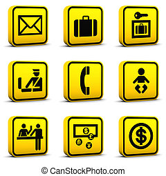 Airport Style Icons Set 05