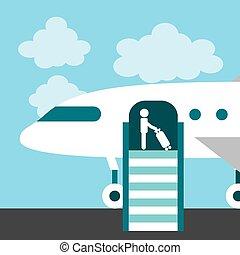 airport terminal design, vector illustration eps10 graphic