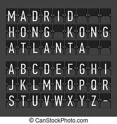 Airport terminal timetable
