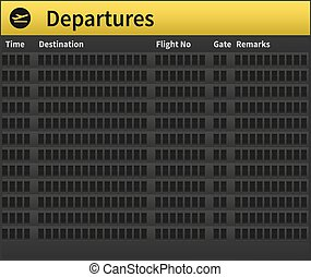Airport timetable empty