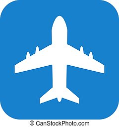 Airport vector sign isolated on white background