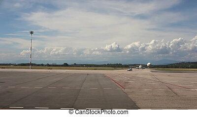 View of runway - airport in Trieste
