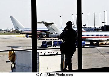 Airport View - Passenger Waiting at Airport