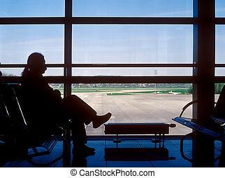 Airport waiting.