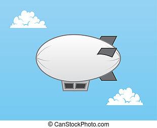 Airship Blimp  - Airship blimp in the sky