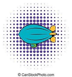 Airship icon, comics style