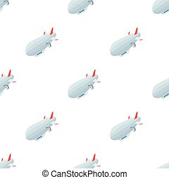 Airship icon in cartoon style isolated on white background. Transportation symbol stock vector illustration.