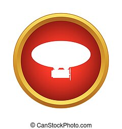 Airship icon in simple style