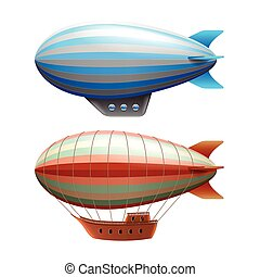 Airship isolated on white vector