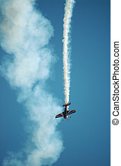Airplane performing at an airshow