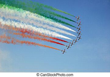 Airshow - Aerobatic on Dubai airshow