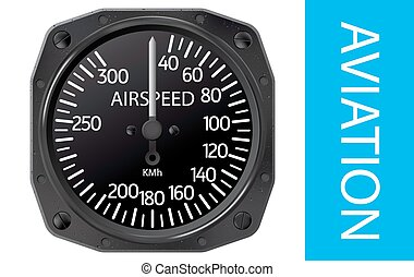 Airspeed indicator vector