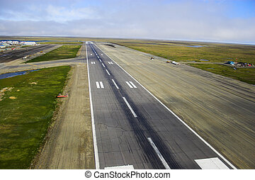 Airstrip - Aerial photos of landing strip of the airport