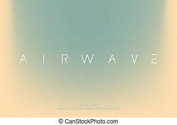 airwave, vector, fuente