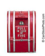 aislado, alarma de incendios
