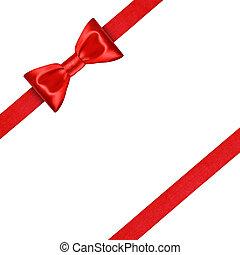aislado, arco, rojo, Plano de fondo, blanco, cinta