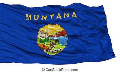 aislado, bandera de montana, estados unidos de américa, estado