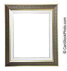 aislado, blanco, moderno, marco, blanco