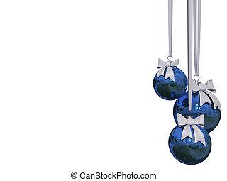 aislado, encima, pelota, navidad, blanco