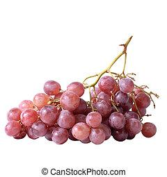 aislado, fruta, de, uva