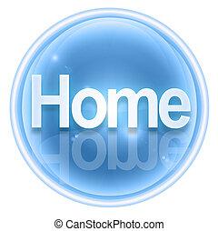 aislado, hielo, plano de fondo, hogar, blanco, icono