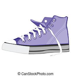 aislado, ilustración, shoes