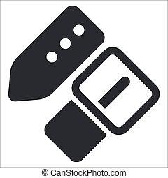 aislado, ilustración, solo, vector, icono, cinturón