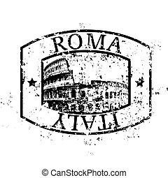 aislado, ilustración, solo, vector, roma, icono