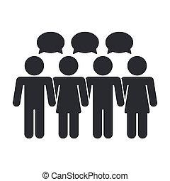 aislado, ilustración, solo, vector, social, icono