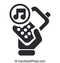 aislado, ilustración, teléfono, solo, vector, icono