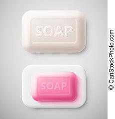 aislado, jabón