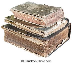 aislado, libros viejos