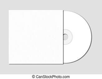 aislado, mockup, dvd, -, gris, cd, plantilla, blanco
