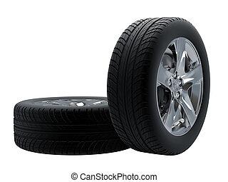 aislado, neumáticos