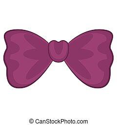 aislado, púrpura, bollo de pelo