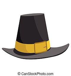 aislado, peregrino, sombrero